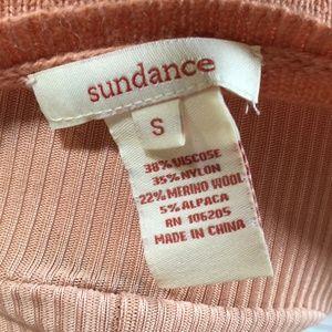 Sundance Sweaters - Sundance crochet granny square peach sweater Small
